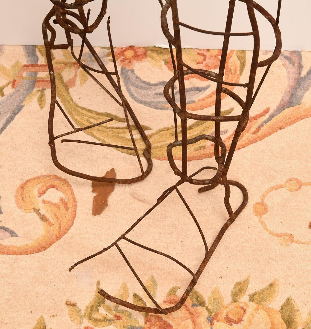 Dada style wirework figural topiary frame - 4
