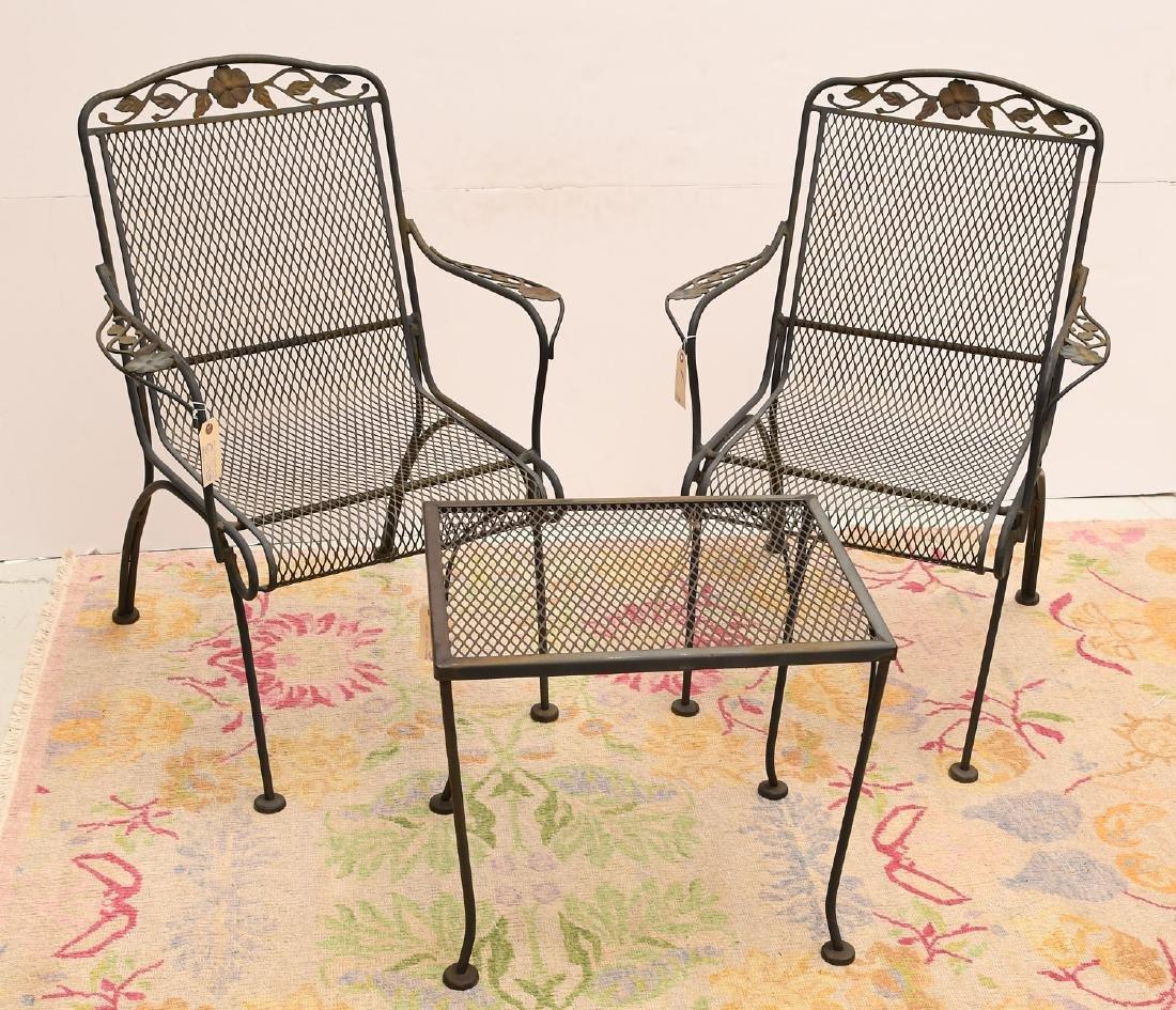 (3) piece vintage wrought garden set