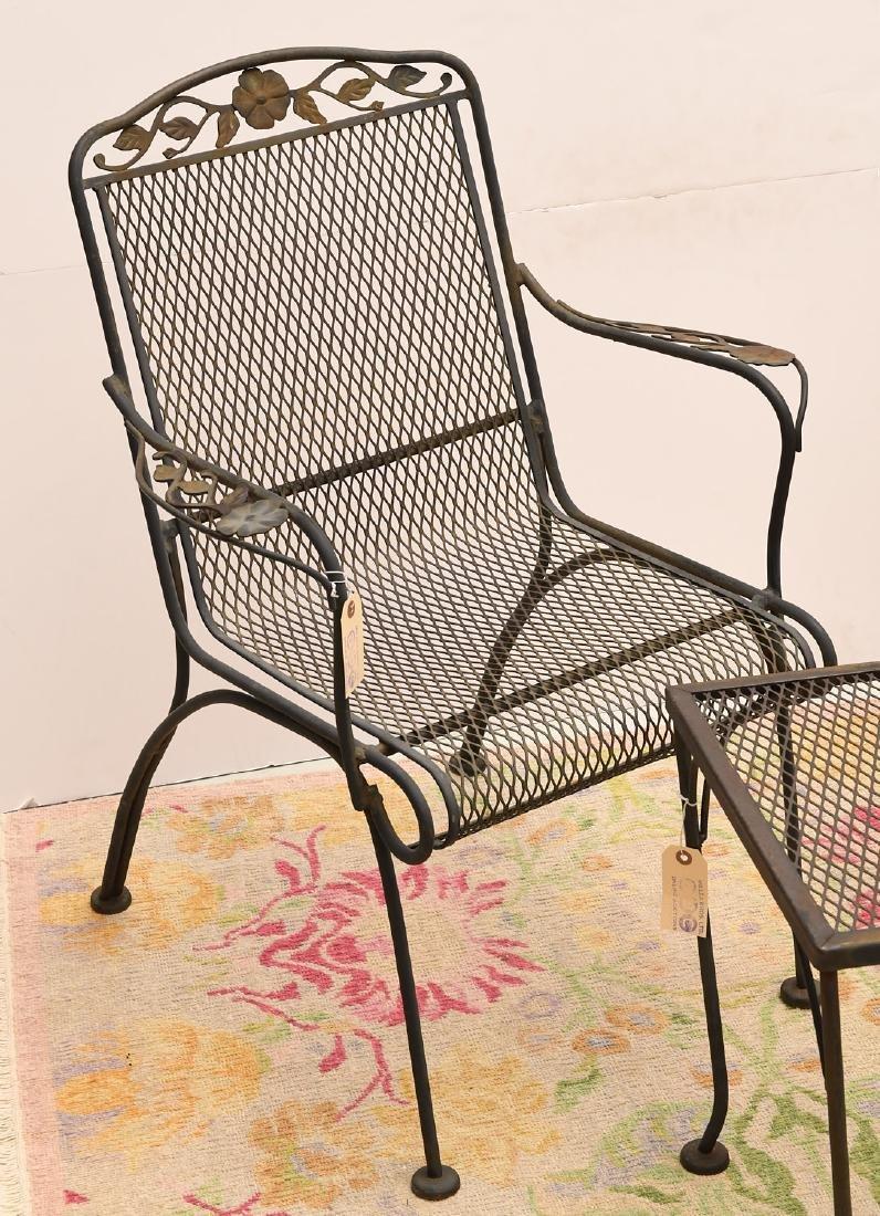 (3) piece vintage wrought garden set - 2