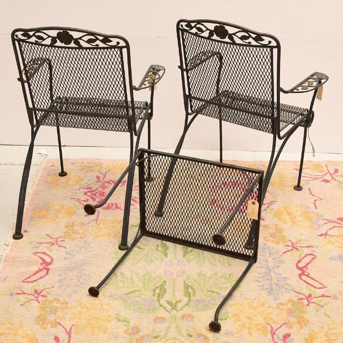 (3) piece vintage wrought garden set - 6