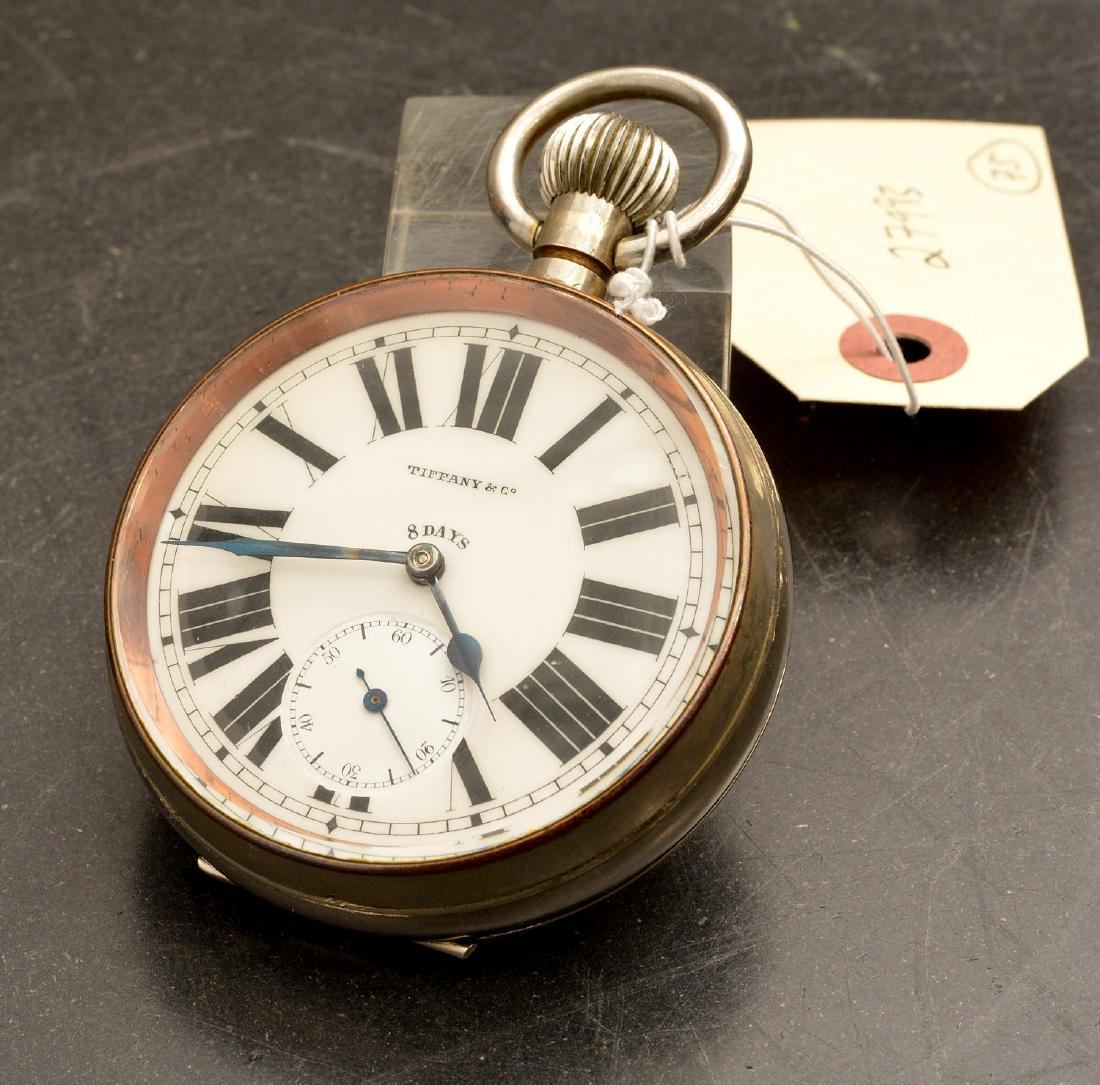 Antique Tiffany & Co. open face pocket watch