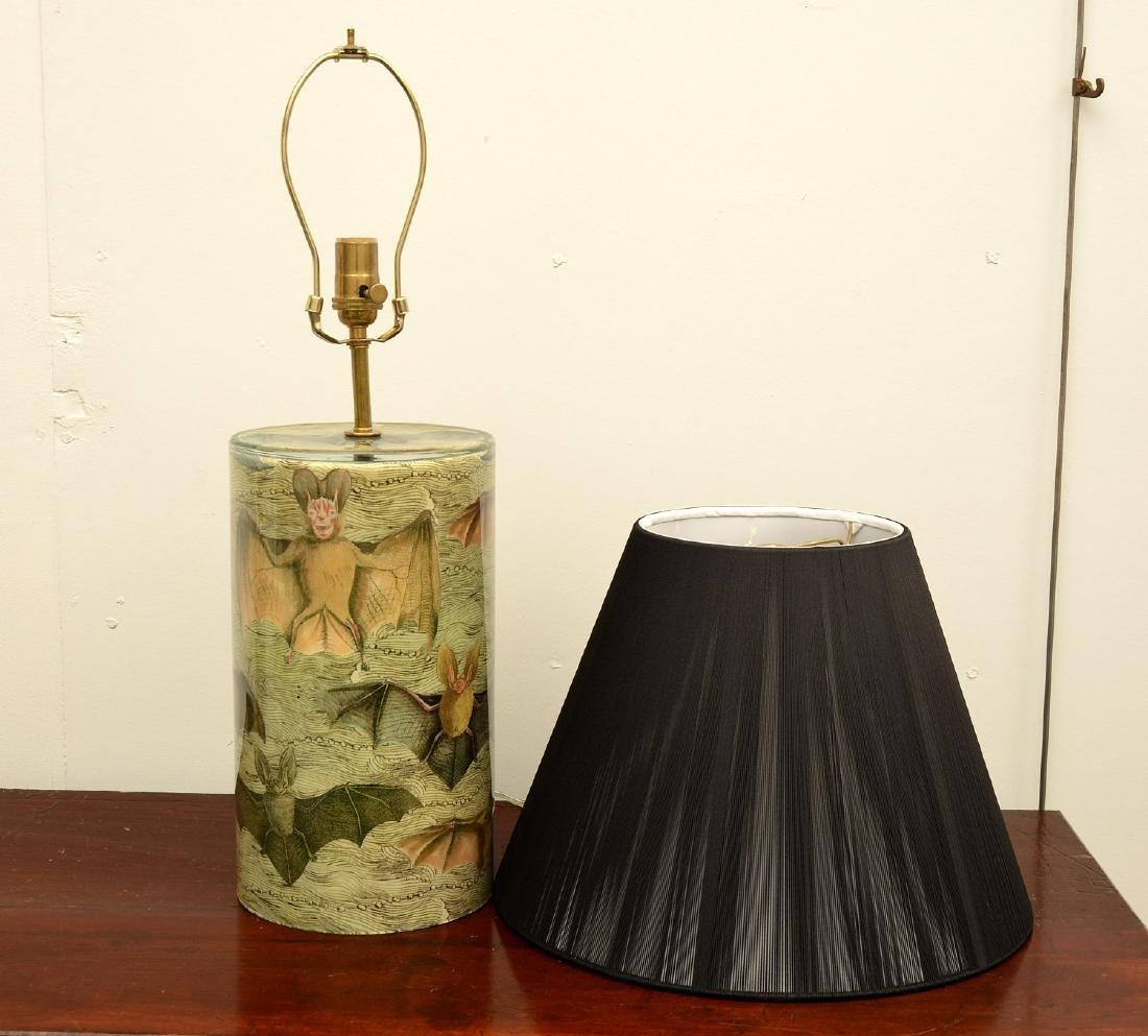 John Derian cylinder bat table lamp - 2