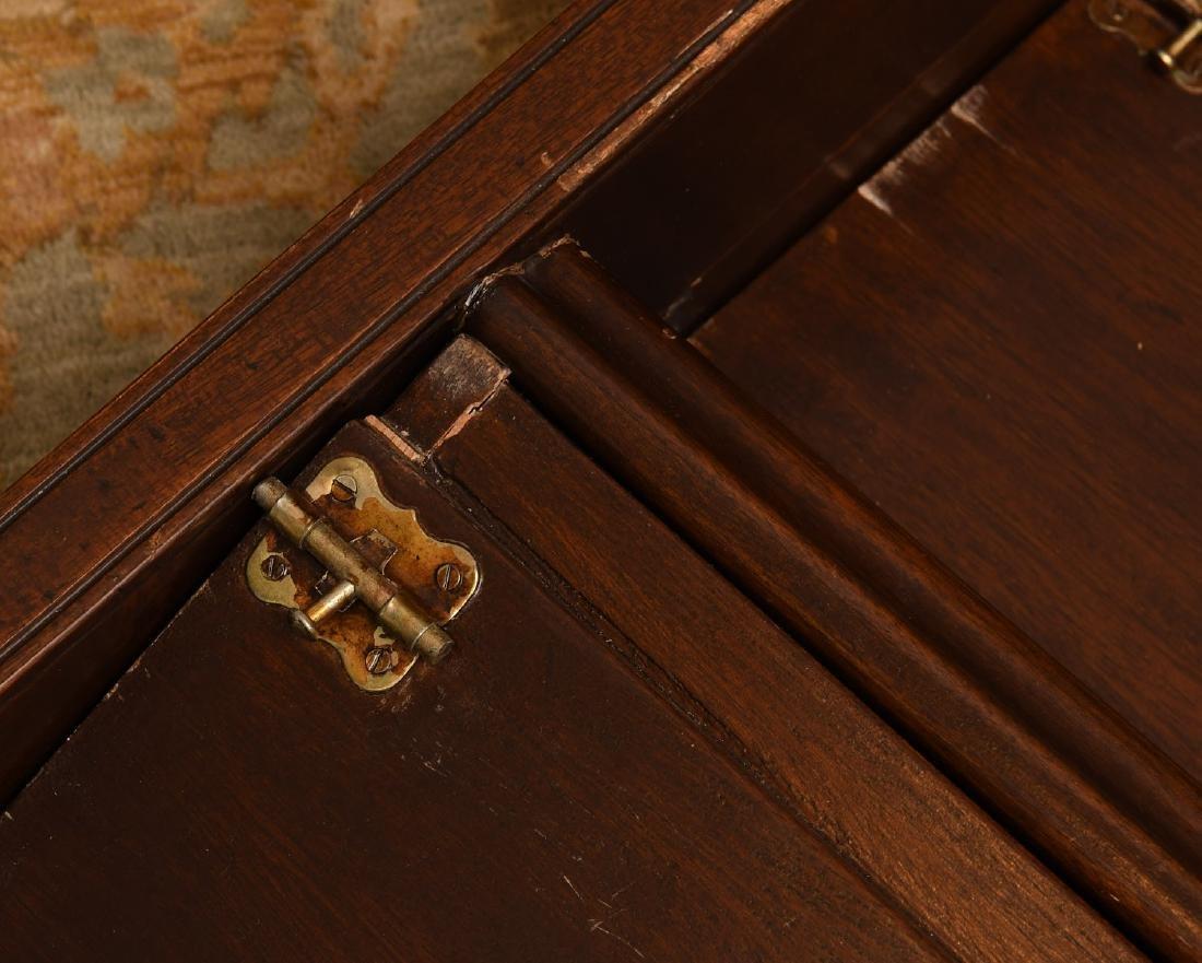 Folding mahogany library steps - 4