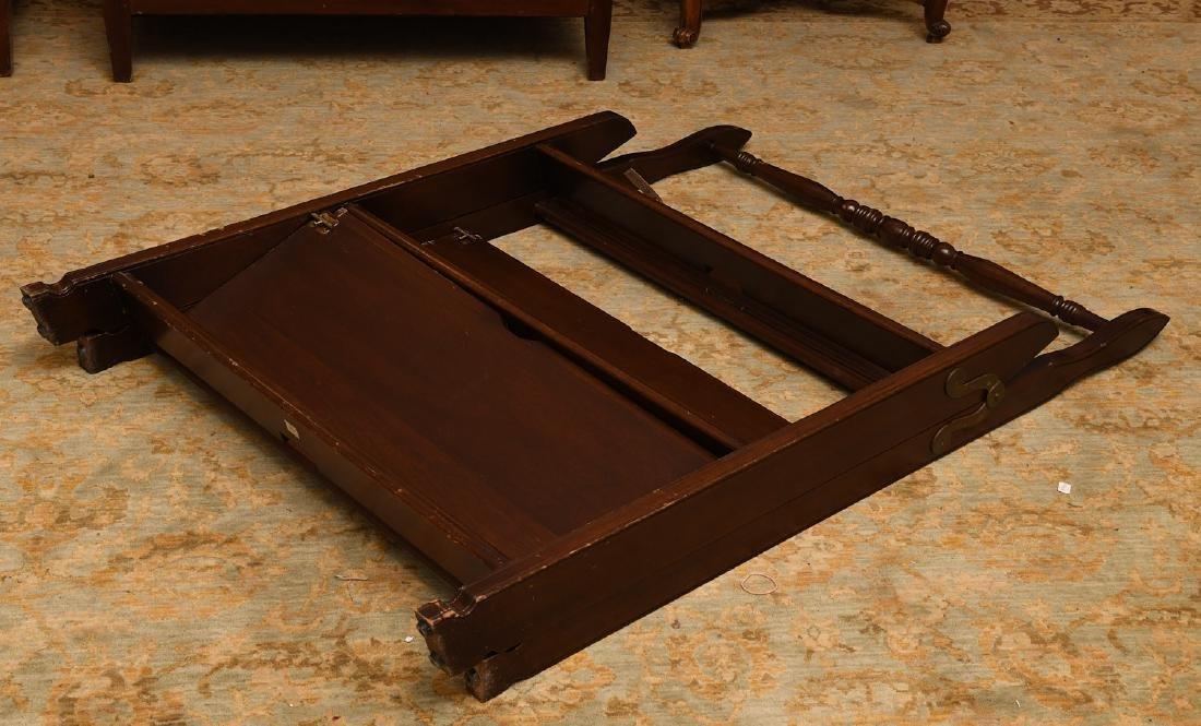Folding mahogany library steps - 5