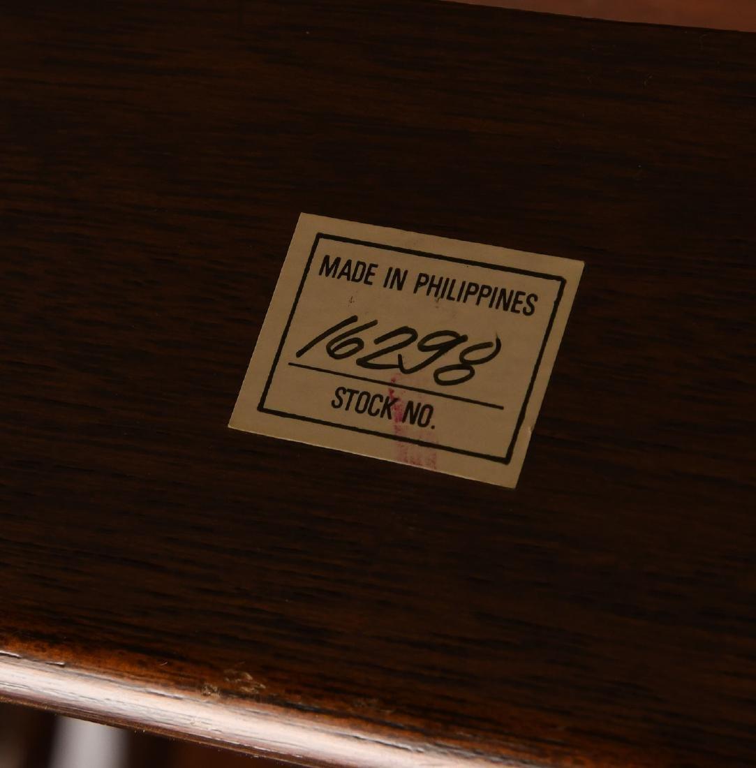 Folding mahogany library steps - 6