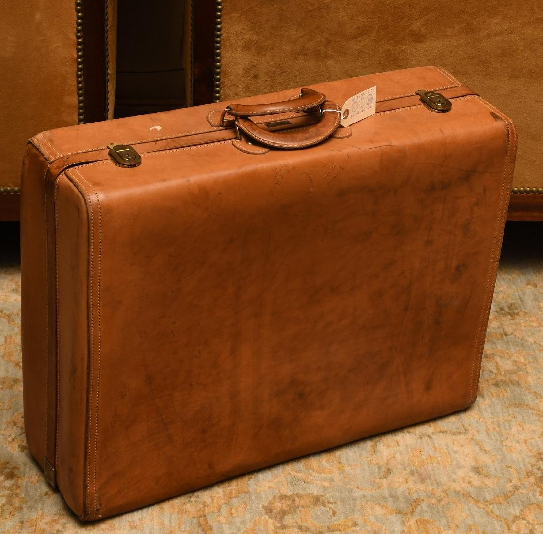 Brown leather Hartmann suitcase