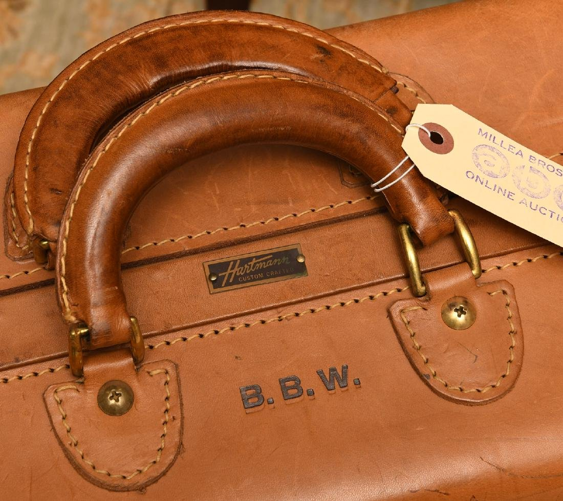 Brown leather Hartmann suitcase - 3