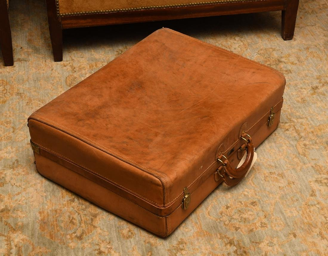 Brown leather Hartmann suitcase - 4