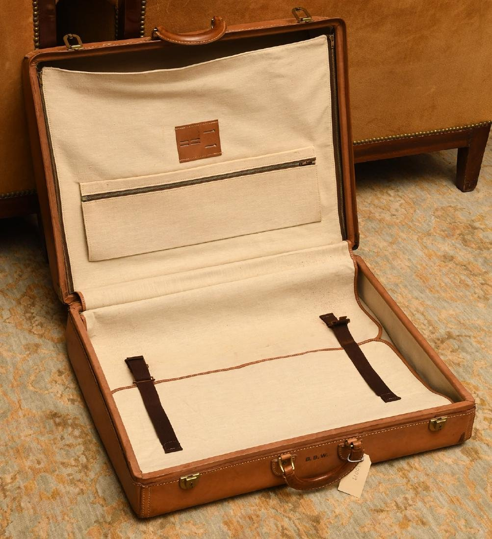 Brown leather Hartmann suitcase - 5