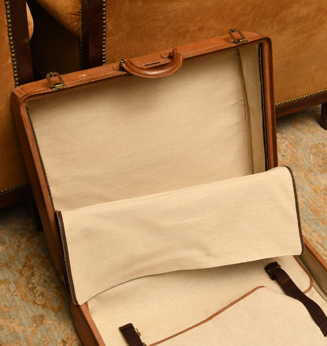 Brown leather Hartmann suitcase - 8