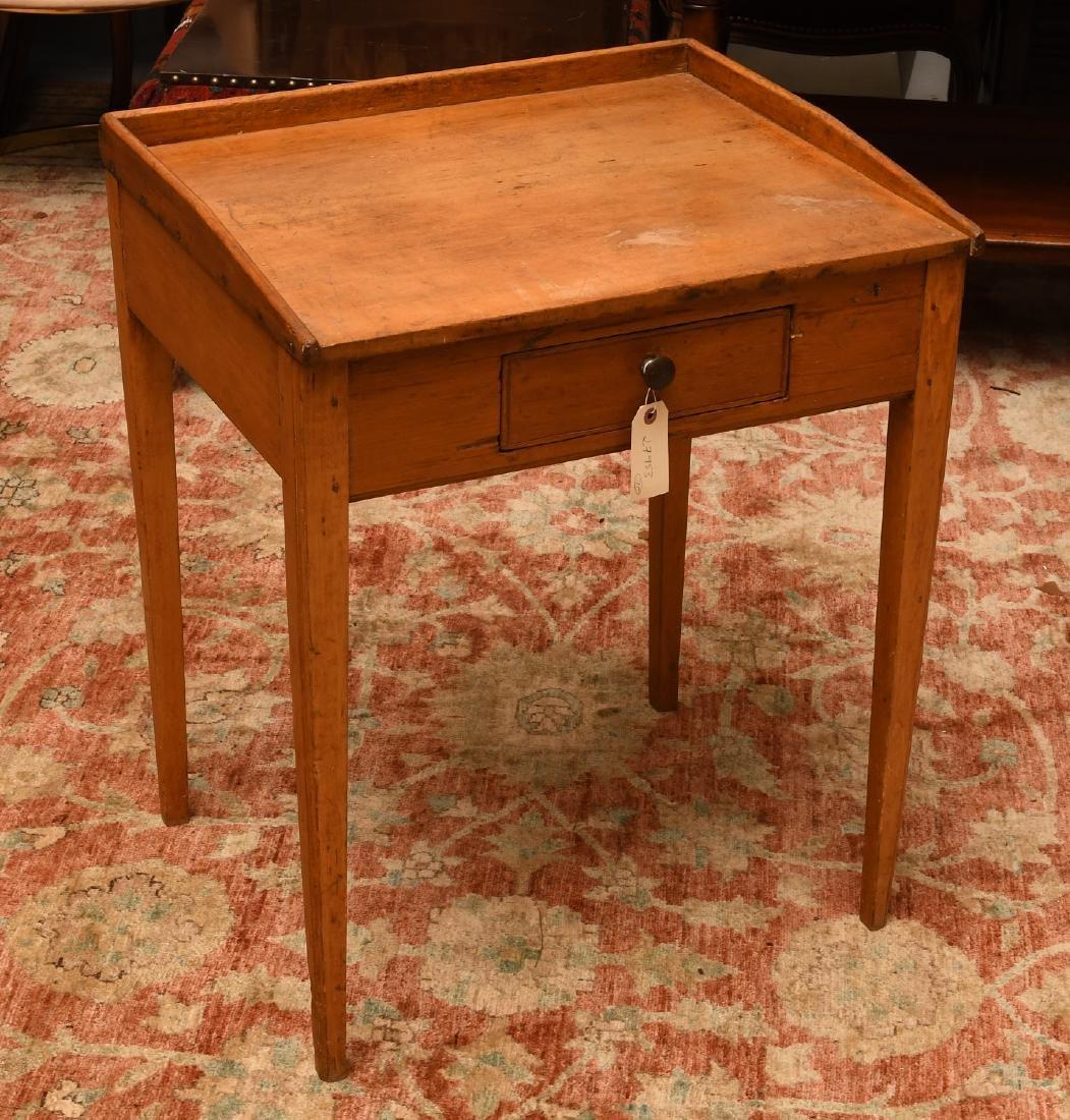 Antique pine student's desk