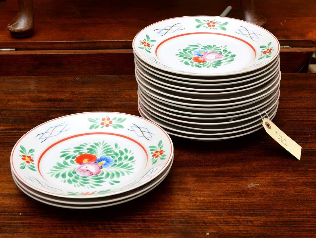 (17) Hollohaza dinner plates