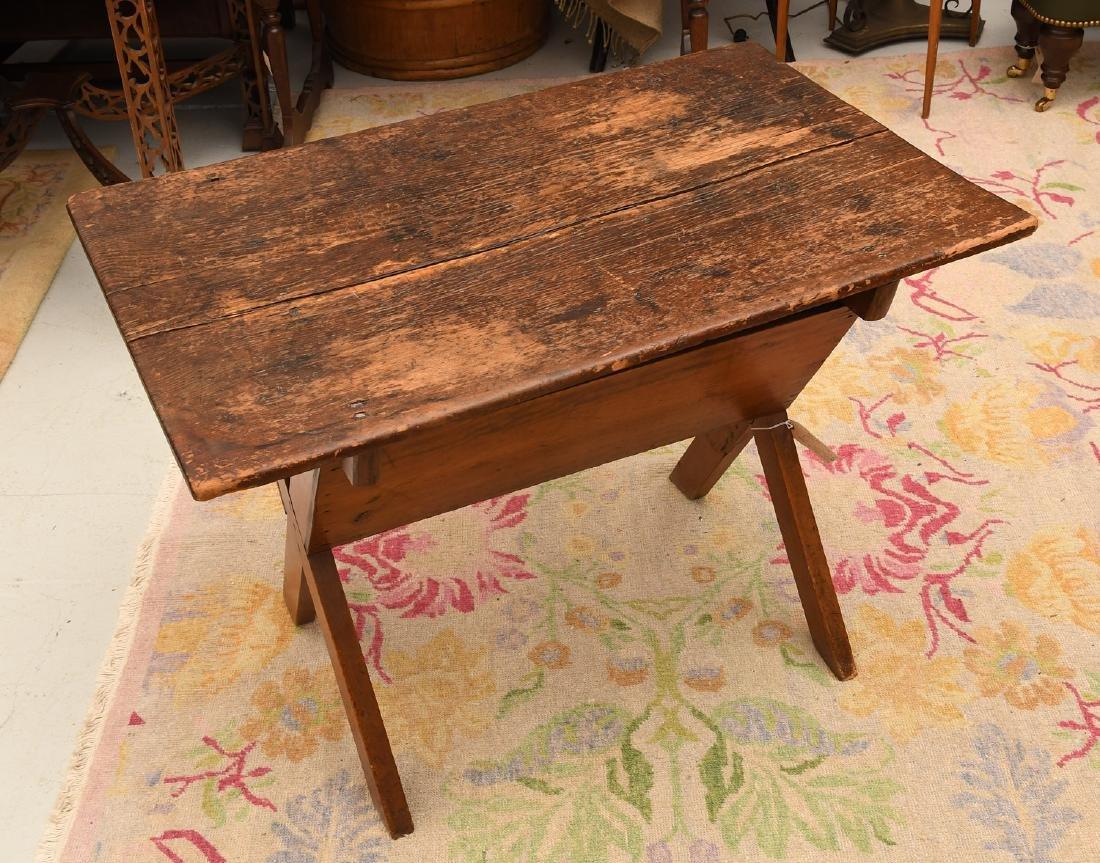 Pine dough box / trough style side table
