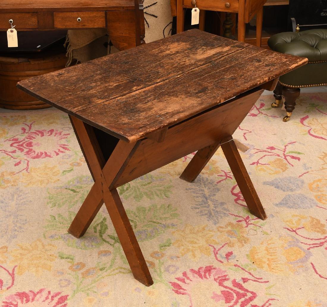 Pine dough box / trough style side table - 2