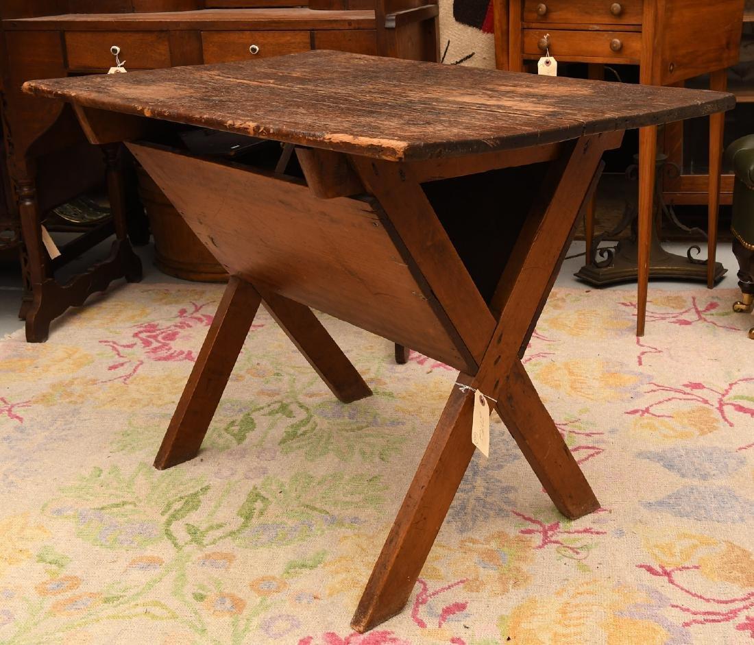 Pine dough box / trough style side table - 3