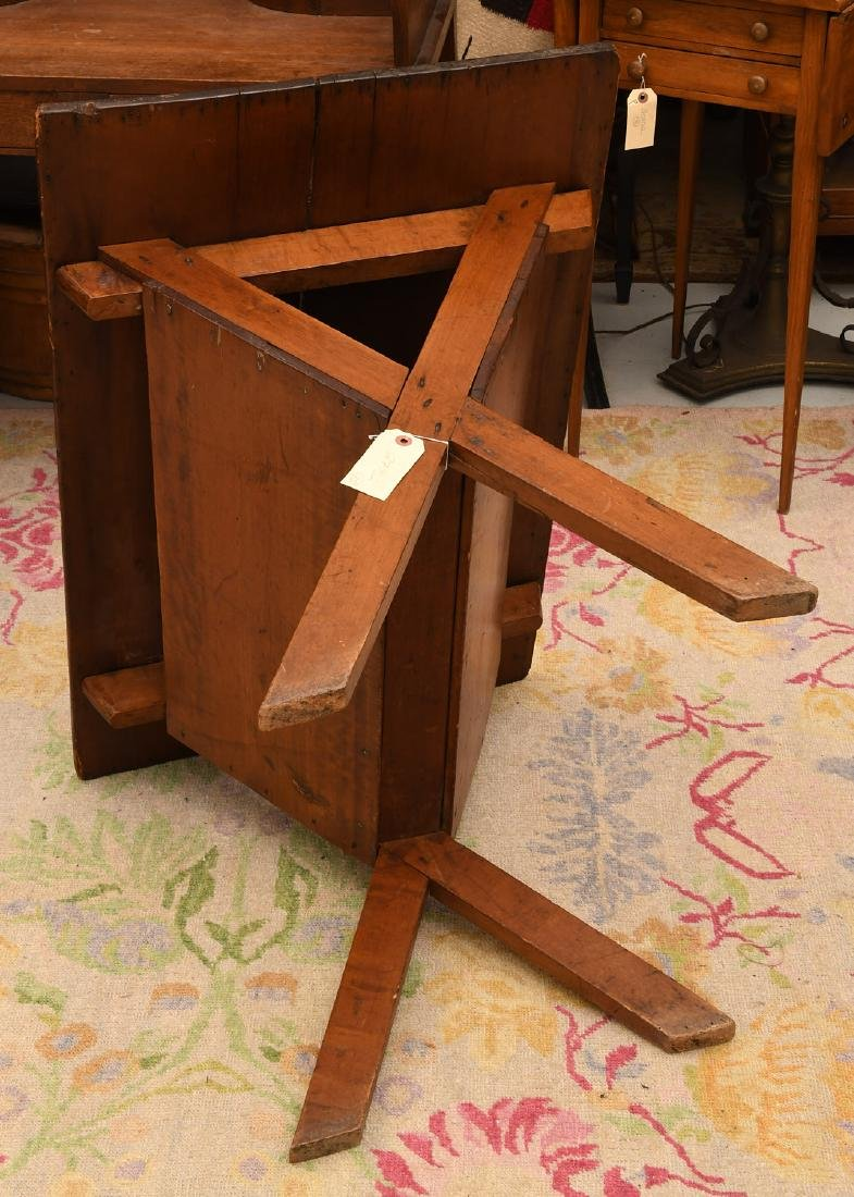 Pine dough box / trough style side table - 4
