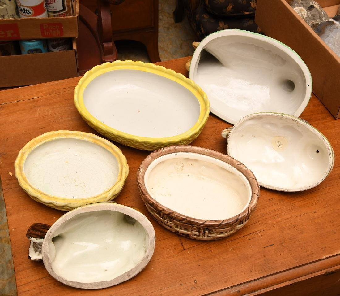 (3) Hen-on-nest porcelain dishs and covers - 4