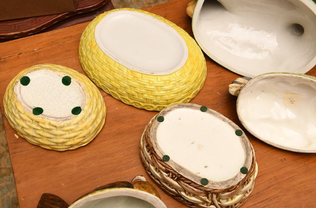 (3) Hen-on-nest porcelain dishs and covers - 5