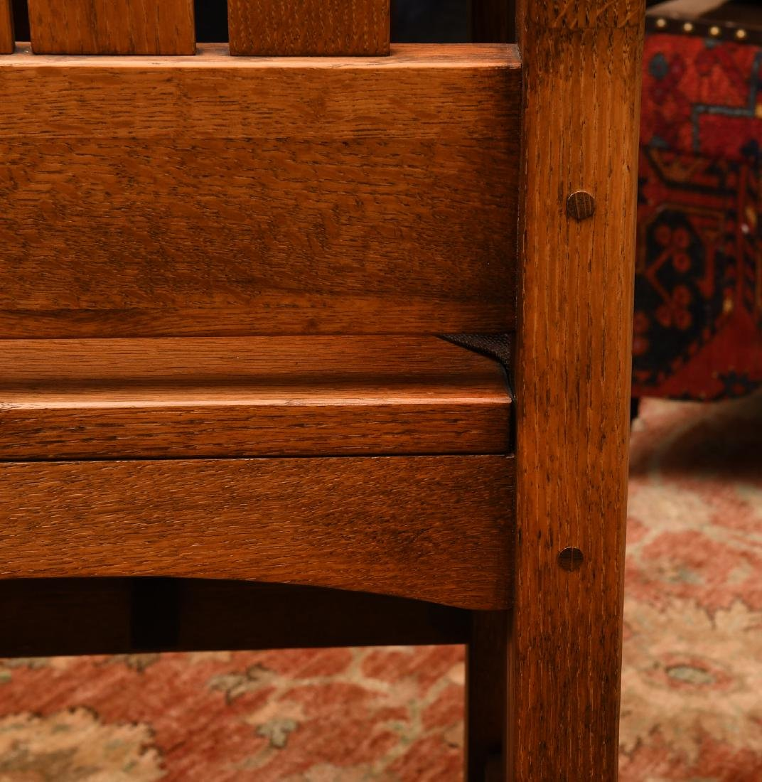 Arts & Crafts style oak high chair - 4