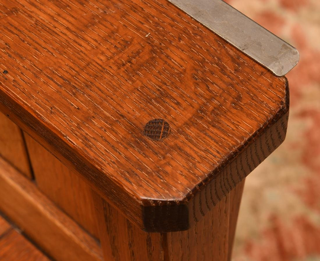 Arts & Crafts style oak high chair - 6