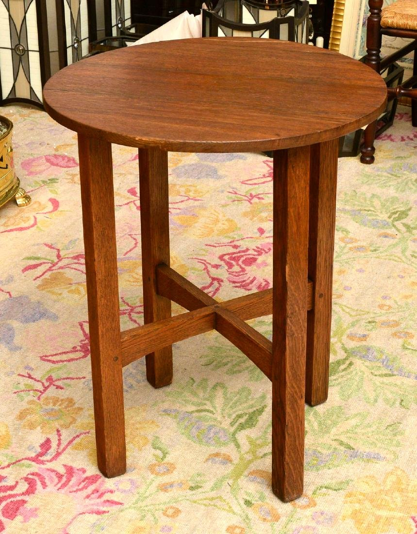 Arts & Crafts style oak side table