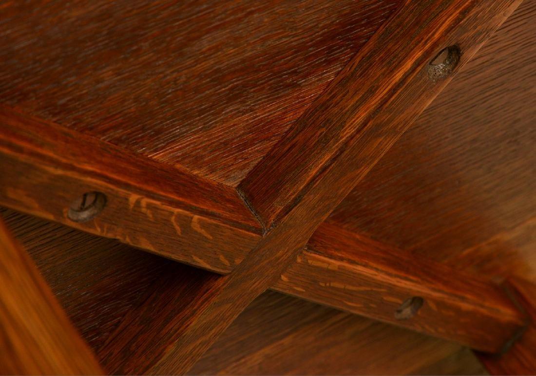Arts & Crafts style oak side table - 6