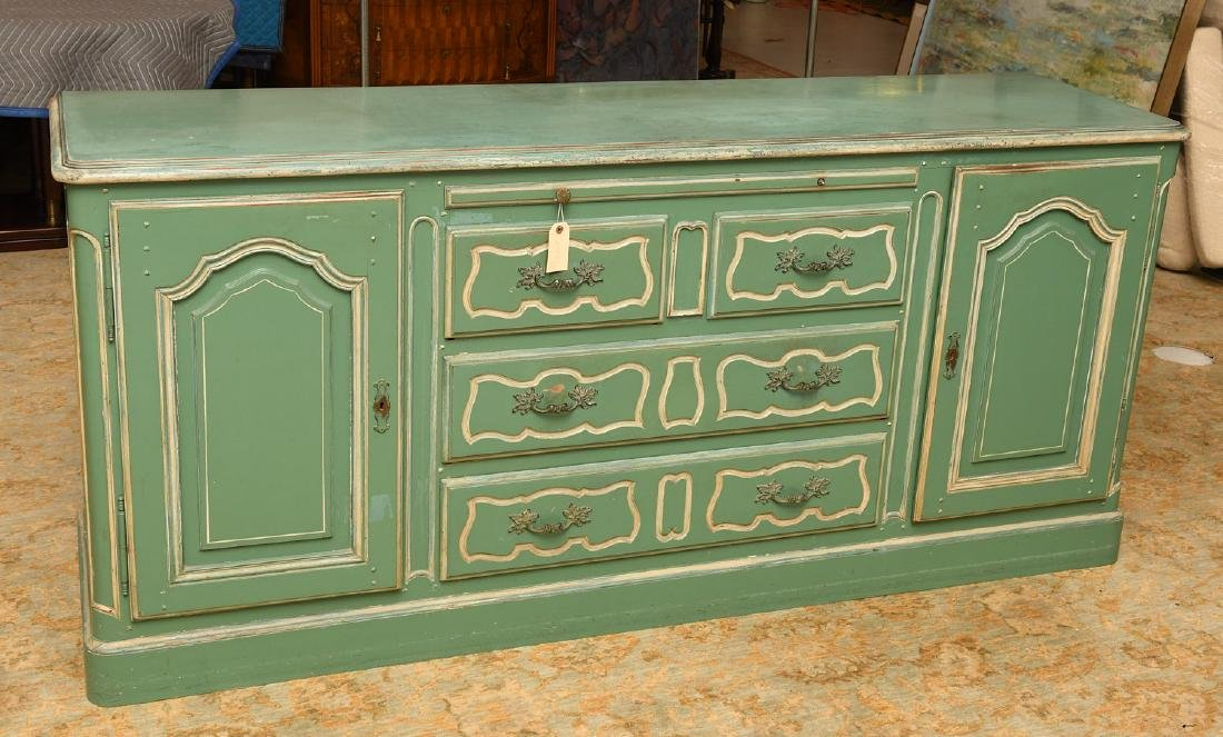 Louis XV style painted buffet