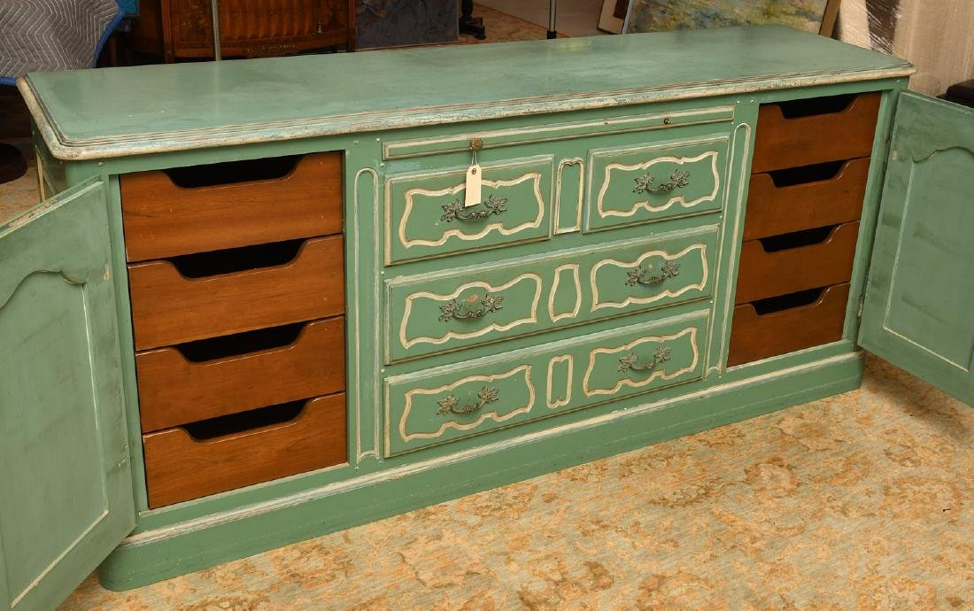 Louis XV style painted buffet - 4