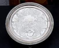 William Gale Jr. sterling footed salver