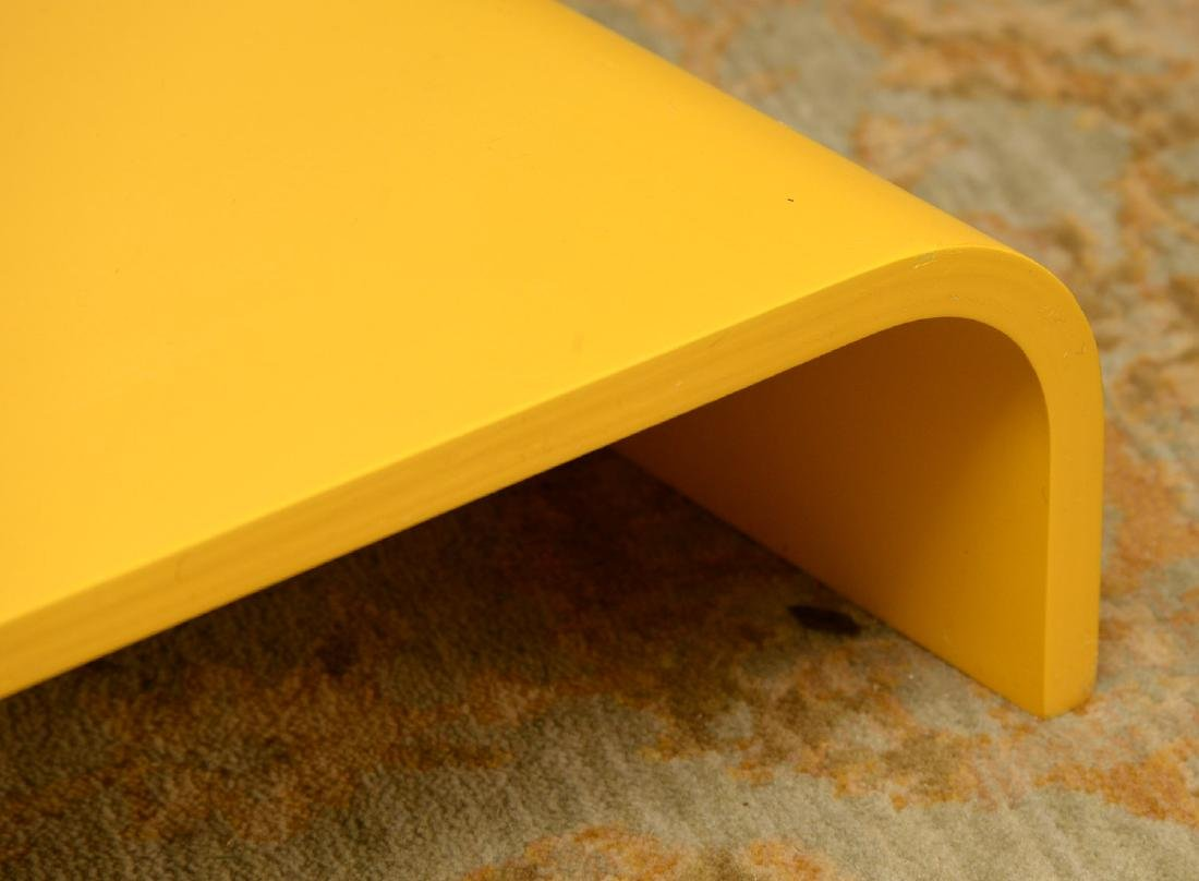 Set (3) curved yellow laminate shelves - 2