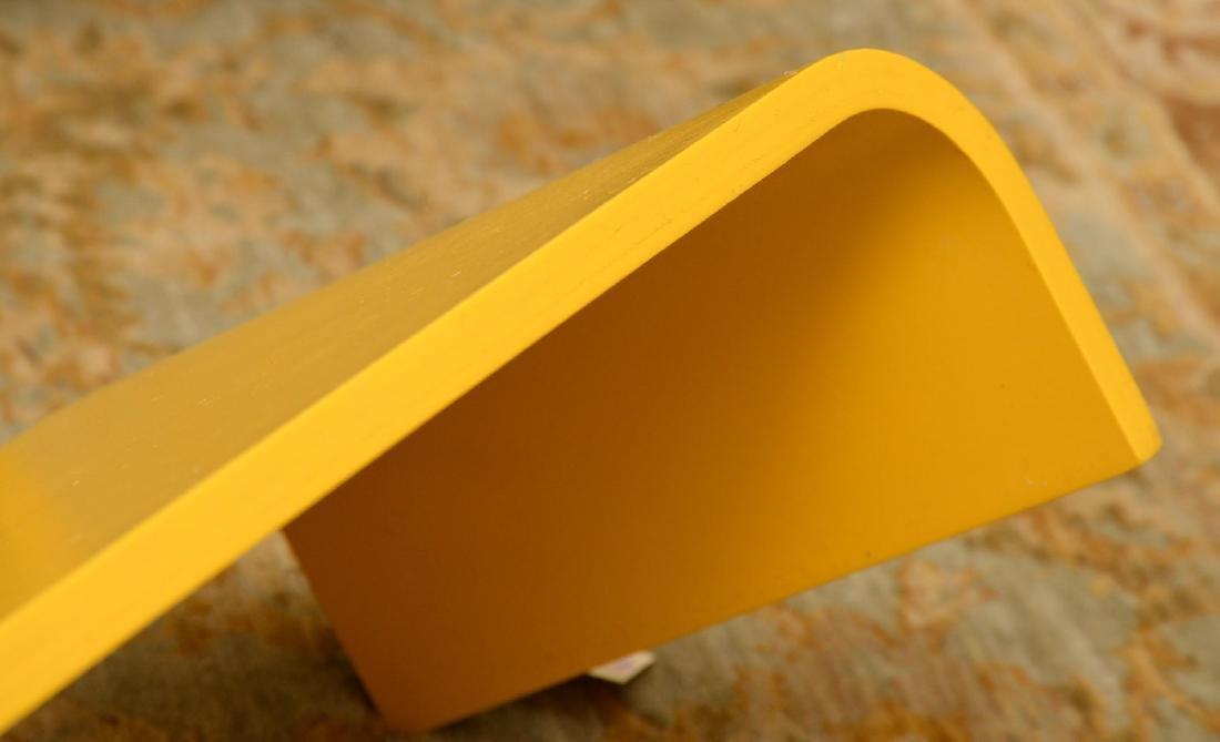 Set (3) curved yellow laminate shelves - 3