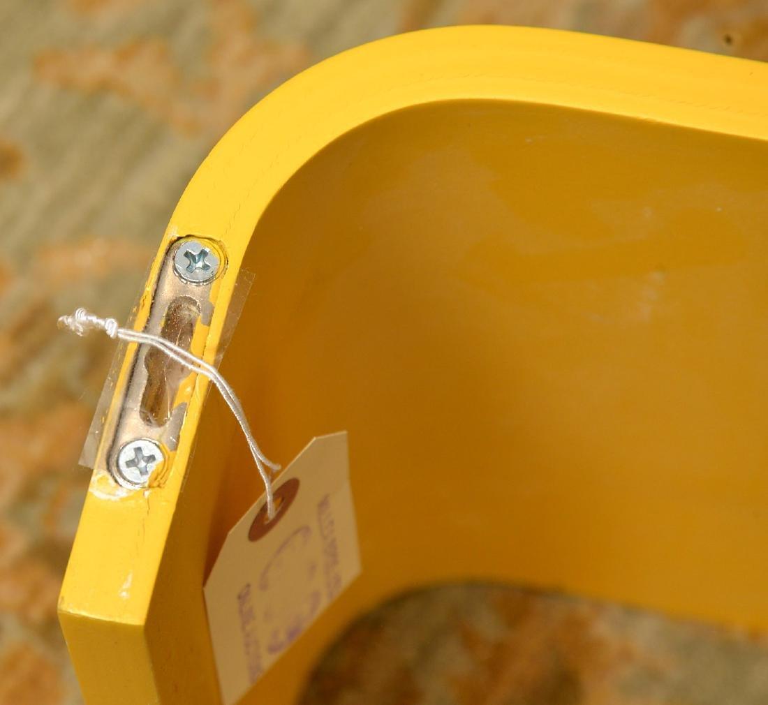 Set (3) curved yellow laminate shelves - 5