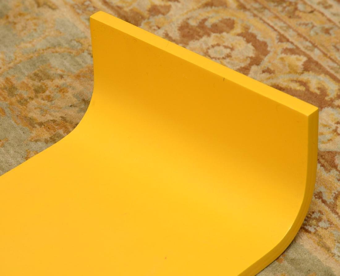Set (3) curved yellow laminate shelves - 6