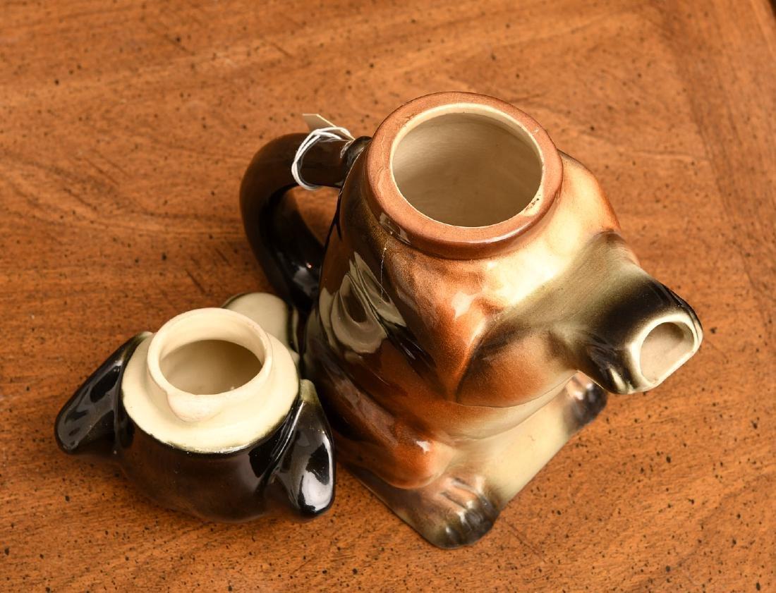 Erphila Germany Dachshund teapot - 3