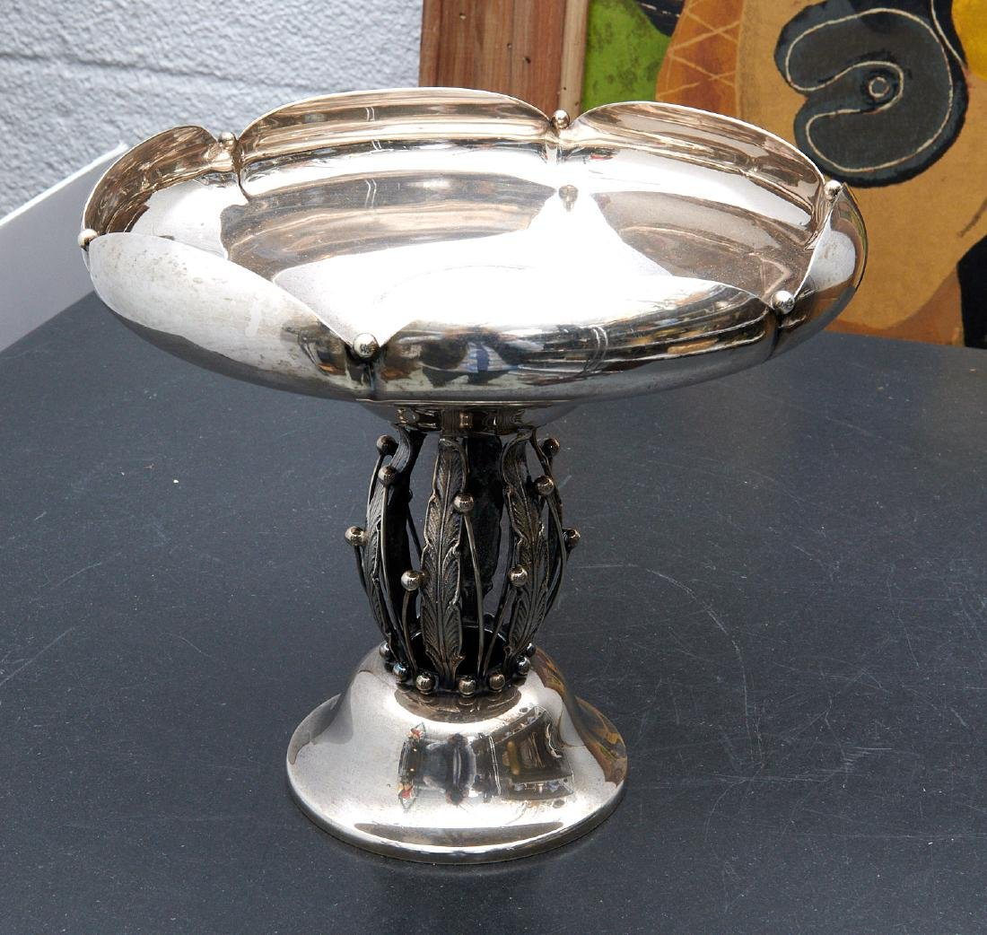 Georg Jensen style sterling compote