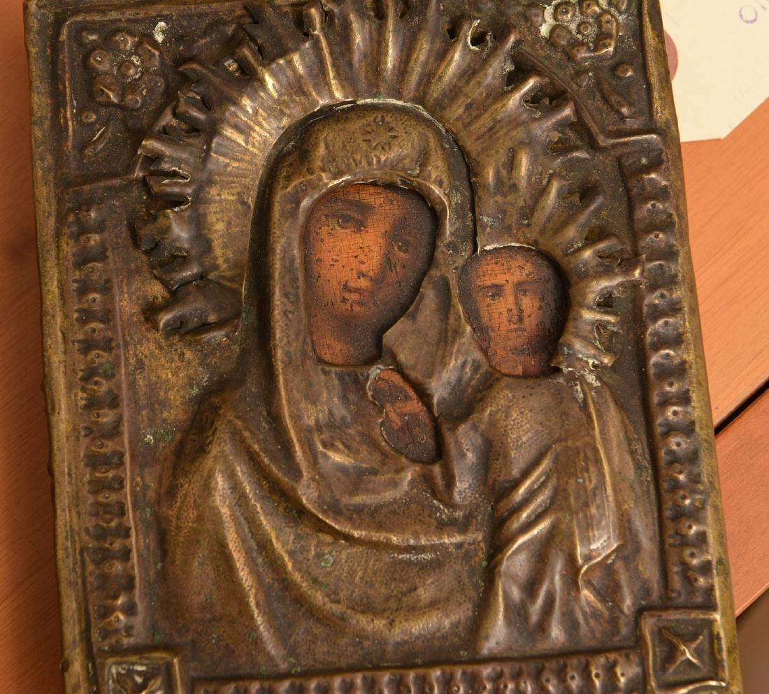 (3) Russian/Greek polychrome icons - 4