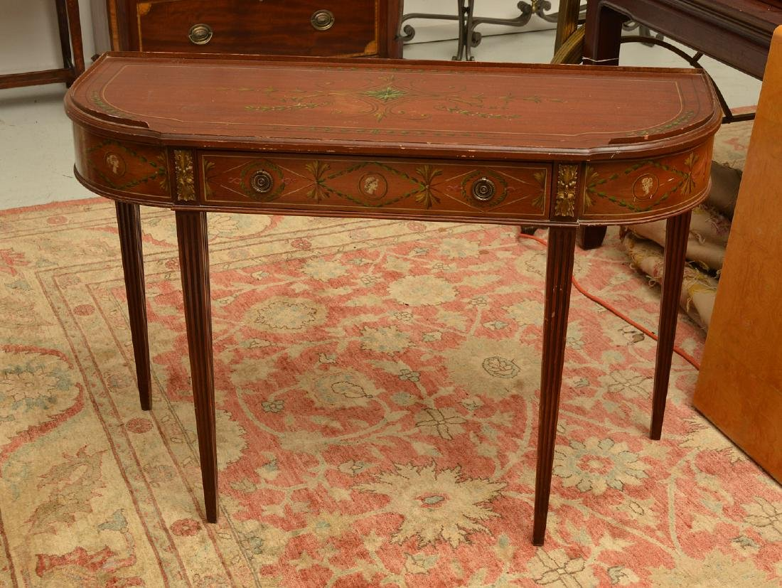 Adam style painted mahogany console
