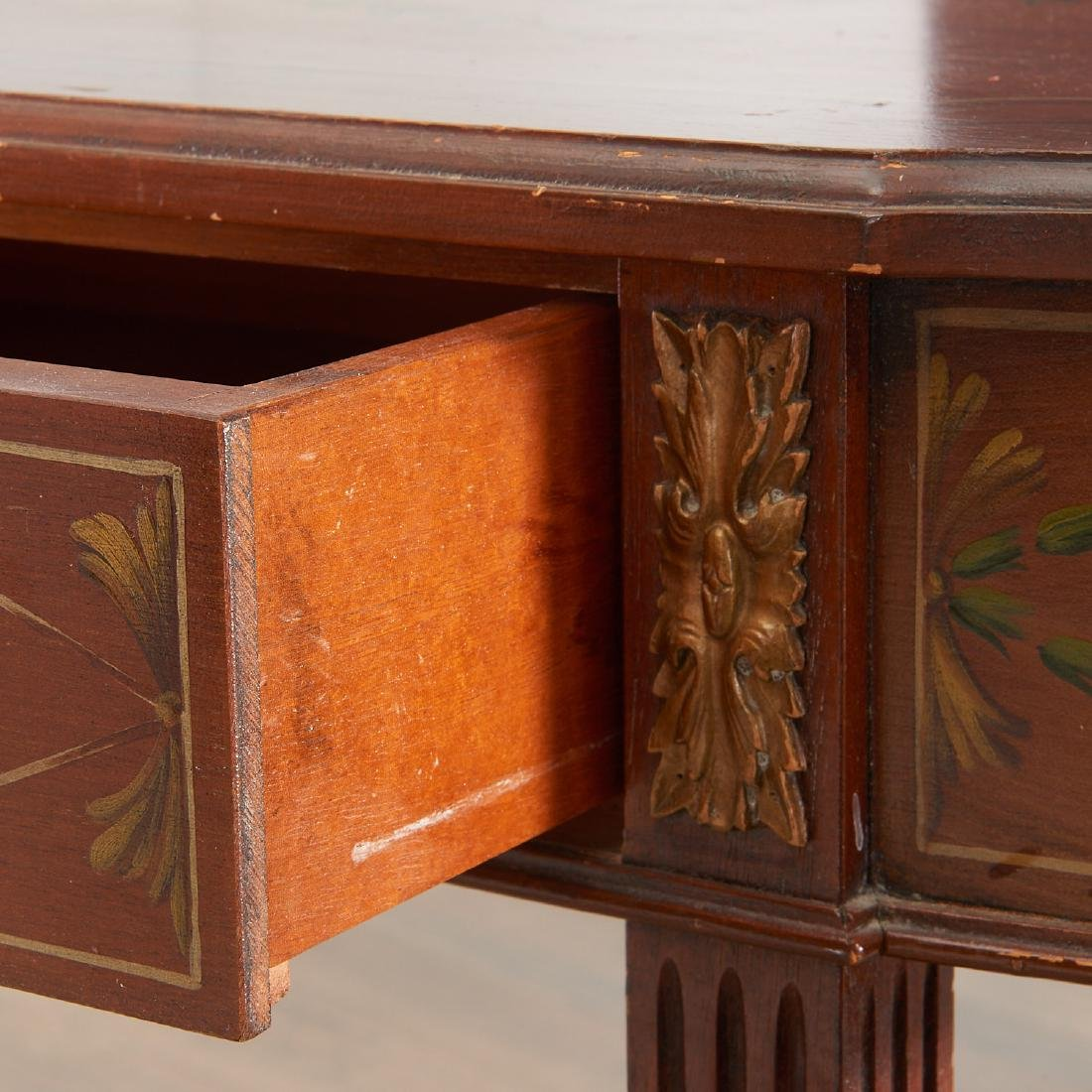 Adam style painted mahogany console - 4