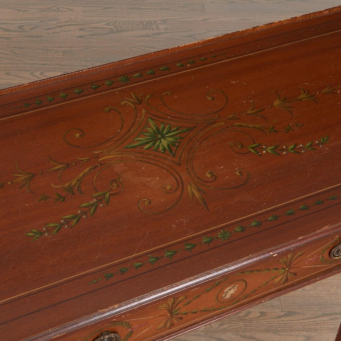 Adam style painted mahogany console - 7