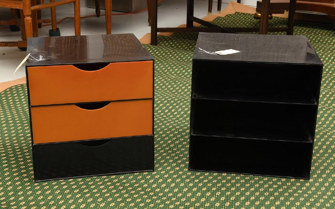(2) Kartell style acrylic stacking storage cubes
