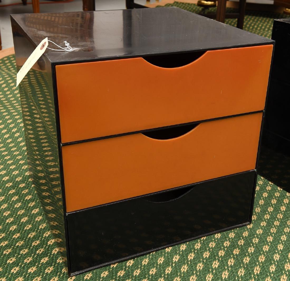 (2) Kartell style acrylic stacking storage cubes - 4