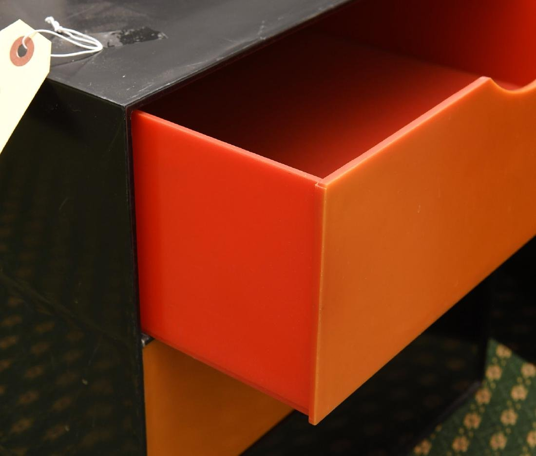 (2) Kartell style acrylic stacking storage cubes - 5