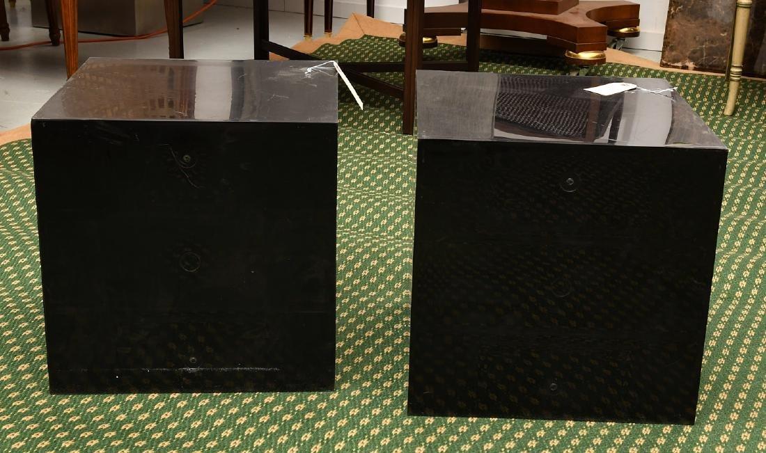 (2) Kartell style acrylic stacking storage cubes - 6