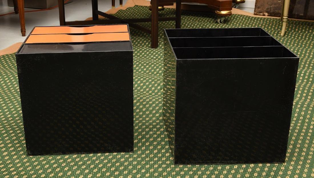 (2) Kartell style acrylic stacking storage cubes - 7