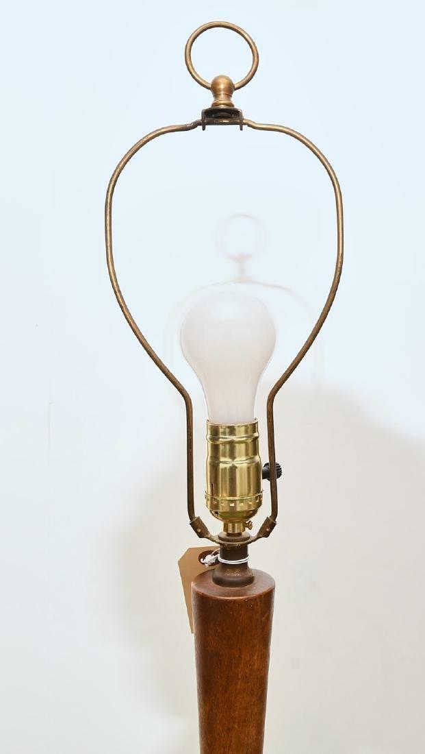 (2) Mid-century teak and metal floor lamps - 2