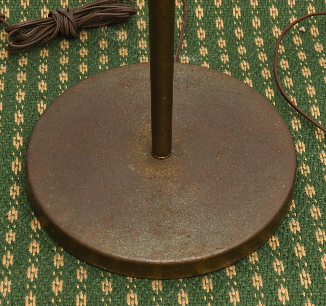 (2) Mid-century teak and metal floor lamps - 7