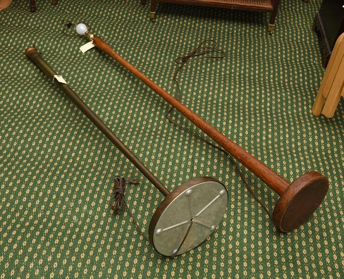 (2) Mid-century teak and metal floor lamps - 8