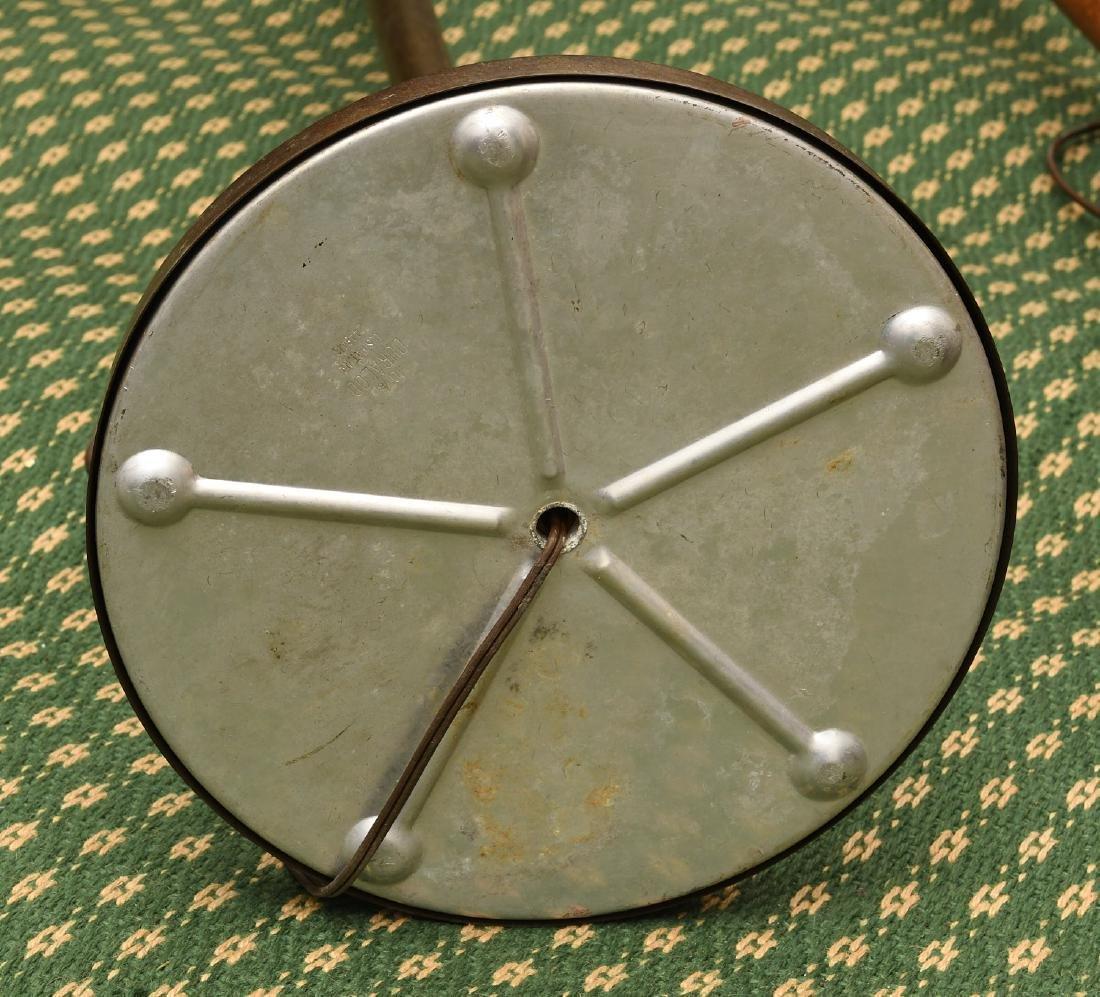 (2) Mid-century teak and metal floor lamps - 9