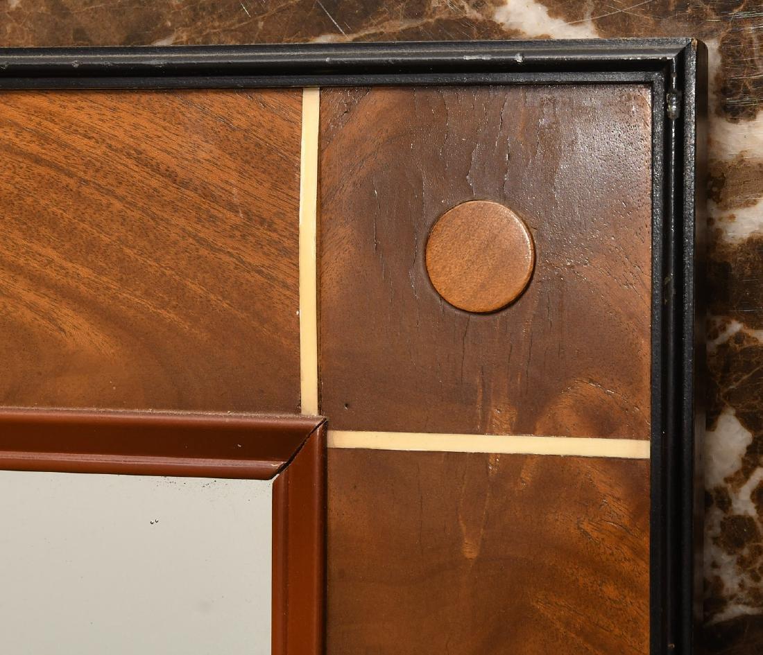 Art Deco style burled mahogany wall mirror - 2
