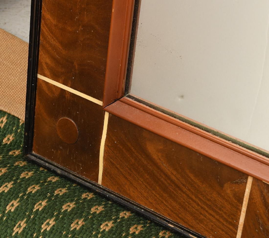 Art Deco style burled mahogany wall mirror - 3